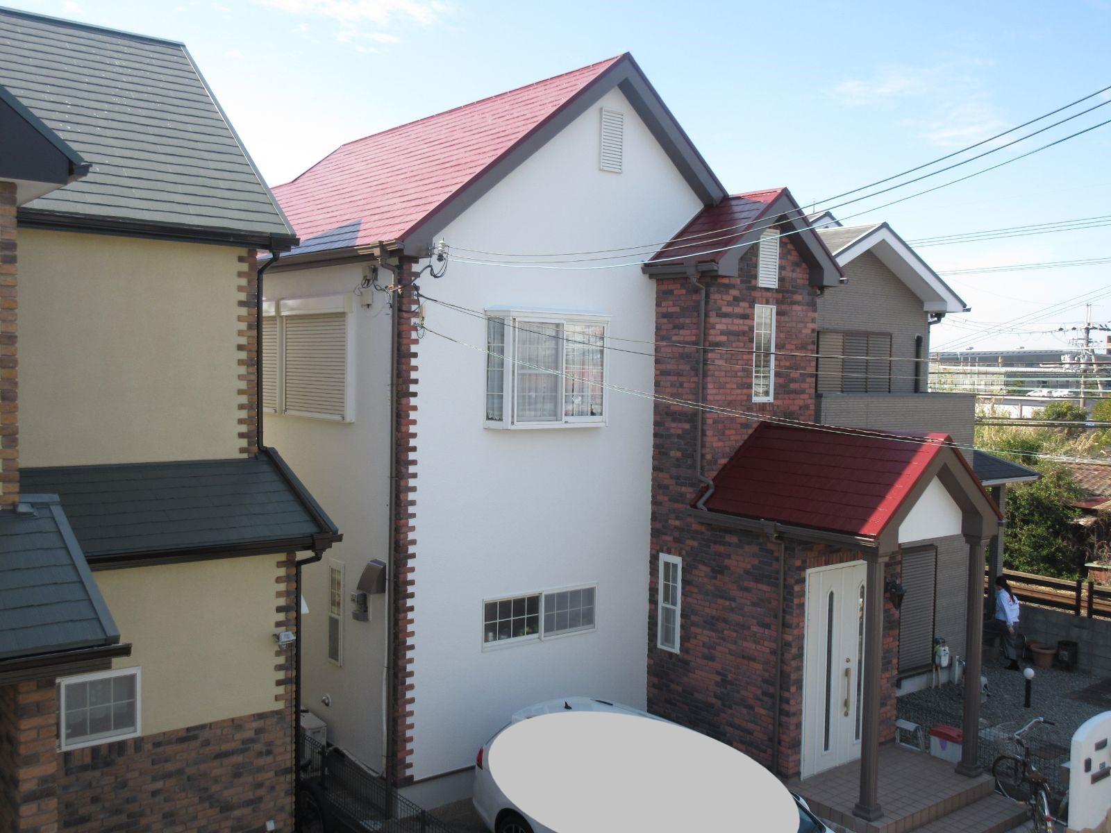 泉南市 I様邸 外壁・屋根塗装工事                                       『劣化しにくく長持ちする無機塗料で♪』