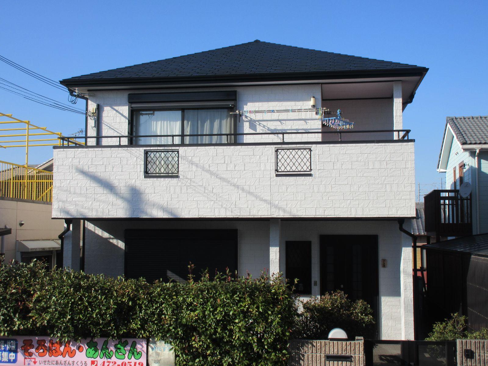 和歌山市 津秦 K様邸  外壁・屋根塗装工事                                        『印象がガラリと変わり心機一転♪』