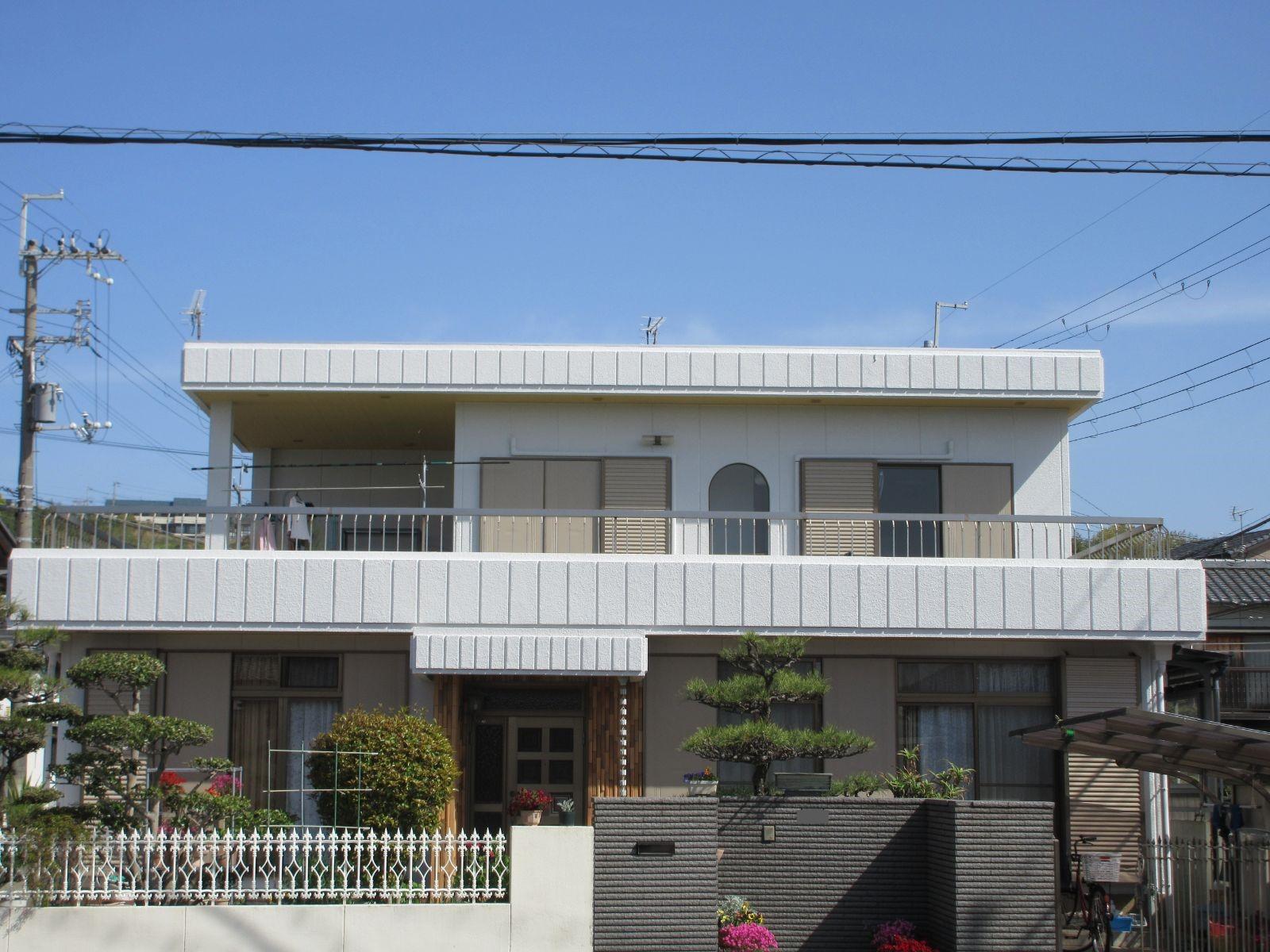 和歌山市*大谷 E様邸  外壁塗装・防水工事                                      『雨漏りや深刻な被害も改善し住みよい暮らしが、、☆』