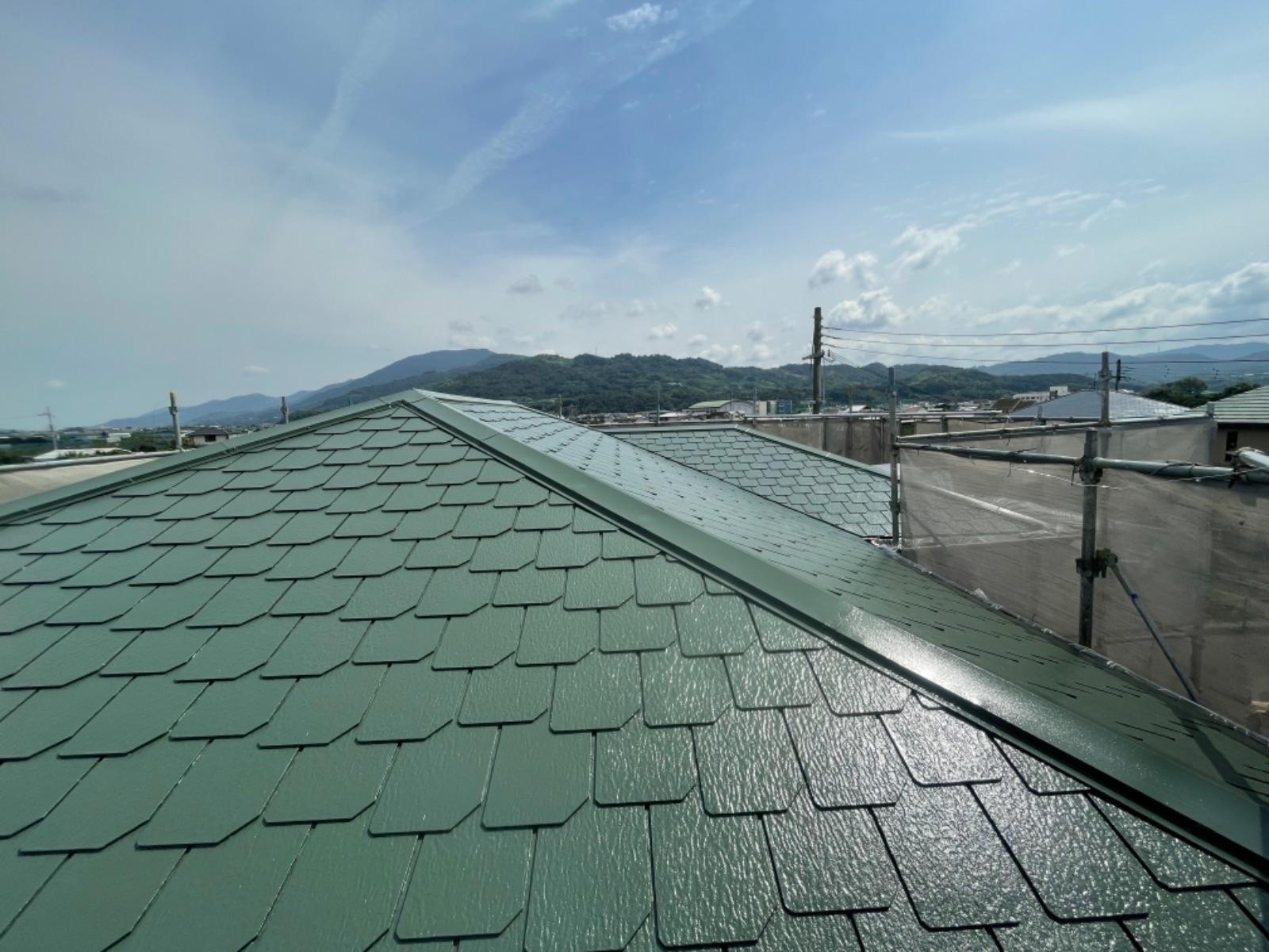 【紀の川市】 M様邸<br>『グリーンの屋根が 上品に輝いています★』2